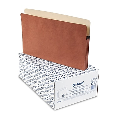 Esselte® Pendaflex® Legal Recycled File Folder w/3 1/2in. Expansion, Red, 25/Pack