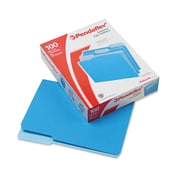"Pendaflex® Letter Recycled 1/3 Cut Interior File Folder w/ 3/4"" Expansion, Blue, 100/Pack"