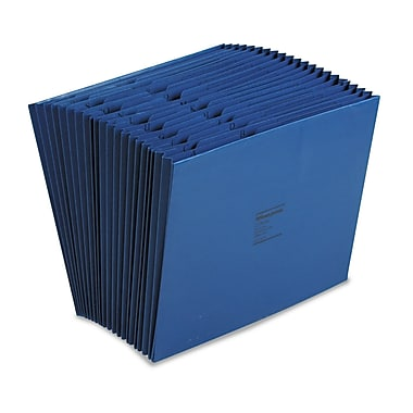 Acco® Letter 21 Pockets Expanding File w/3/4in. Expansion, Dark Blue