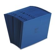 Acco® Letter 21 Pockets Expanding File w/3/4 Expansion, Dark Blue