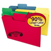Smead® Letter Recycled 1/3 Cut Oversized Tab File Folder w/ 3/4 Expansion, Assorted, 50/Pack
