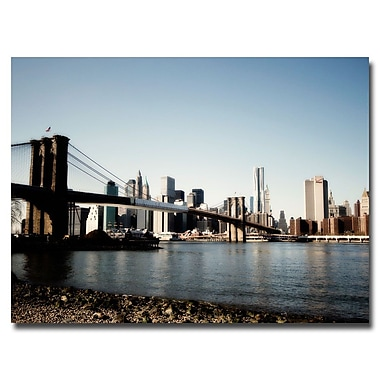 Trademark Fine Art Ariane Moshyedi 'Brooklyn Bridge' Canvas Art