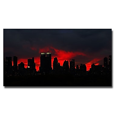 Trademark Fine Art Ariane Moshayedi 'Night Skyline' Canvas Art 12x24 Inches