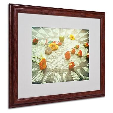 Ariane Moshayedi 'Imagine Blue' Framed Matted Art - 16x20 Inches - Wood Frame