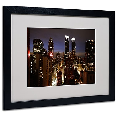 Trademark Fine Art Ariane Moshayedi 'City Lights' Matted Art Black Frame 16x20 Inches