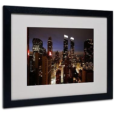 Trademark Fine Art Ariane Moshayedi 'City Lights' Matted Art Black Frame 16x20 Inches