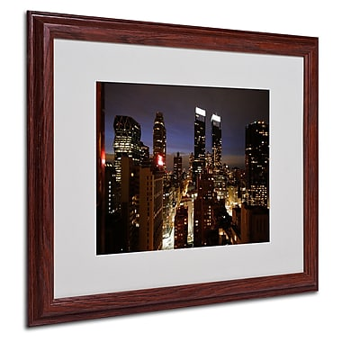 Ariane Moshayedi 'City Lights' Framed Matted Art - 16x20 Inches - Wood Frame
