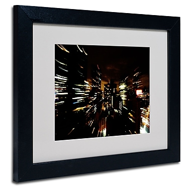 Trademark Fine Art Ariane Moshayedi 'City Lightshow' Matted Art Black Frame 11x14 Inches