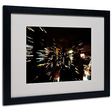 Trademark Fine Art Ariane Moshayedi 'City Lightshow' Matted Art Black Frame 16x20 Inches