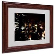 Ariane Moshayedi 'City Lightshow' Matted Framed Art - 11x14 Inches - Wood Frame