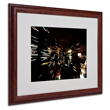 Ariane Moshayedi 'City Lightshow' Matted Framed Art - 16x20 Inches - Wood Frame