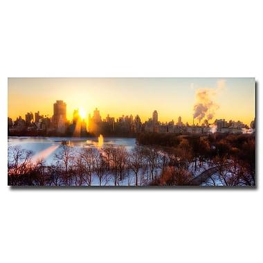 Trademark Fine Art Ariane Moshayedi 'NYC Rising' Canvas Art 10x24 Inches