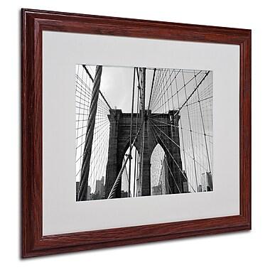 Ariane Moshayedi 'Wired' Matted Framed Art - 16x20 Inches - Wood Frame