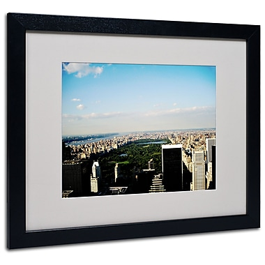 Trademark Fine Art Ariane Moshayedi 'NYC Skies' Matted Art Black Frame 16x20 Inches