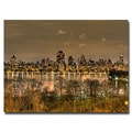 Trademark Fine Art Ariane Moshayedi 'Reservoir Night' Canvas Art 30x47 Inches