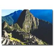 Trademark Fine Art Ariane Moshayedi 'Machu Picchu' Canvas Art 30x47 Inches