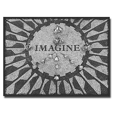 Trademark Fine Art Ariane Moshayedi 'Imagine Peace' Canvas Art 24x32 Inches