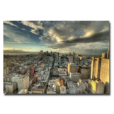 Trademark Fine Art Ariane Moshayedi 'San Francisco Downtown' Canvas Art 16x24 Inches