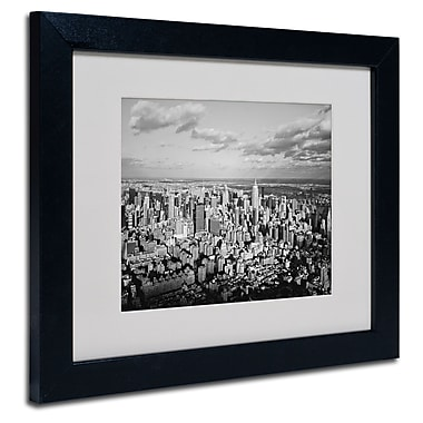 Trademark Fine Art Ariane Moshayedi 'Aerial City' Matted Art Black Frame 11x14 Inches