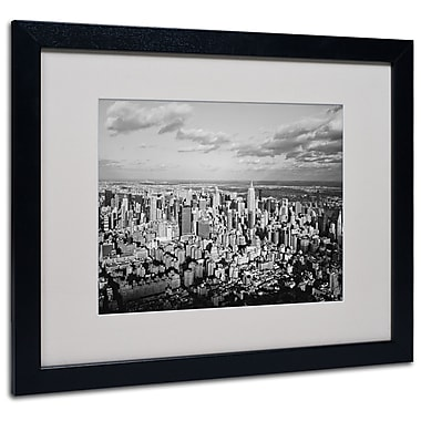 Trademark Fine Art Ariane Moshayedi 'Aerial City' Matted Art Black Frame 16x20 Inches