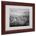 Ariane Moshayedi 'Aerial City' Matted Framed Art - 11x14 Inches - Wood Frame