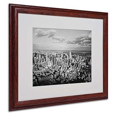 Ariane Moshayedi 'Aerial City' Matted Framed Art - 16x20 Inches - Wood Frame