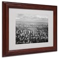Ariane Moshayedi 'Cloud View' Matted Framed Art - 11x14 Inches - Wood Frame