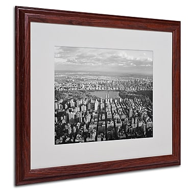 Ariane Moshayedi 'Cloud View' Matted Framed Art - 16x20 Inches - Wood Frame