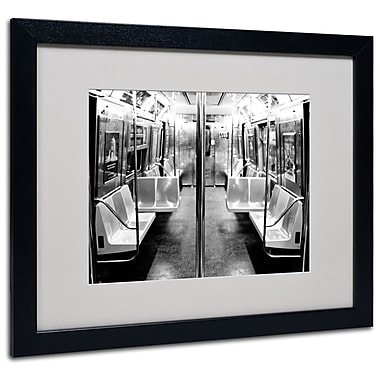 Trademark Fine Art Ariane Moshayedi 'Subway Car' Matted Art Black Frame 16x20 Inches
