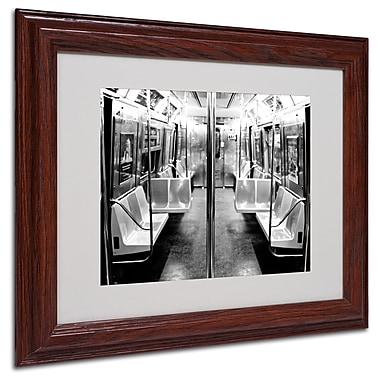Ariane Moshayedi 'Subway Car' Matted Framed Art - 11x14 Inches - Wood Frame