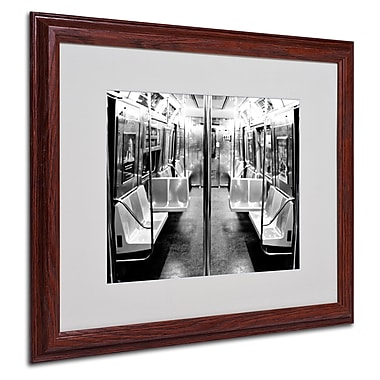 Ariane Moshayedi 'Subway Car' Matted Framed Art - 16x20 Inches - Wood Frame