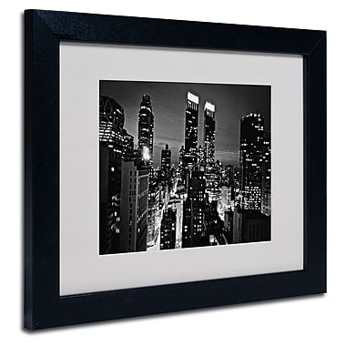 Trademark Fine Art Ariane Moshayedi 'Follow the Lights' Matted Art Black Frame 11x14 Inches