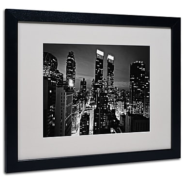Trademark Fine Art Ariane Moshayedi 'Follow the Lights' Matted Art Black Frame 16x20 Inches