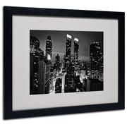 Trademark Fine Art Ariane Moshayedi 'Follow the Lights' Matted Art Black Frame 16x20 Inches