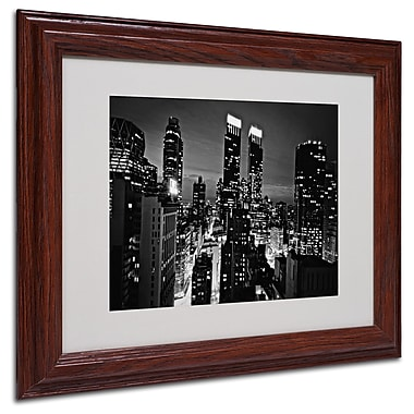 Ariane Moshayedi 'Follow the Lights' Matted Framed Art - 11x14 Inches - Wood Frame