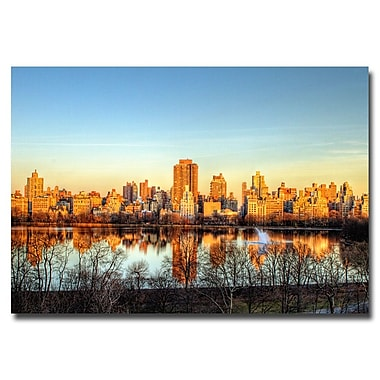 Trademark Fine Art Ariane Moshayedi 'Reservoir Reflections' Canvas Art 30x47 Inches