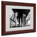 Ariane Moshayedi 'Time Square' Matted Framed Art - 11x14 Inches - Wood Frame