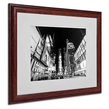 Ariane Moshayedi 'Time Square' Matted Framed Art - 16x20 Inches - Wood Frame
