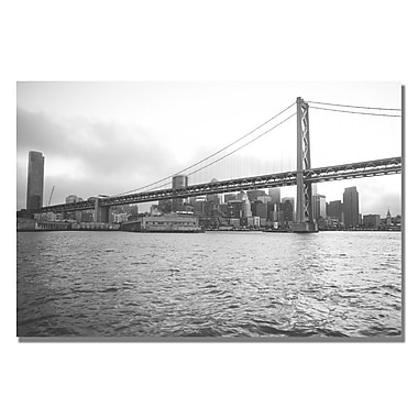Trademark Fine Art Ariane Moshayedi 'Bay Bridge' Canvas Art 16x24 Inches