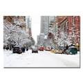 Trademark Fine Art Ariane Moshayedi 'NYC Snow Day' Canvas Art 16x24 Inches