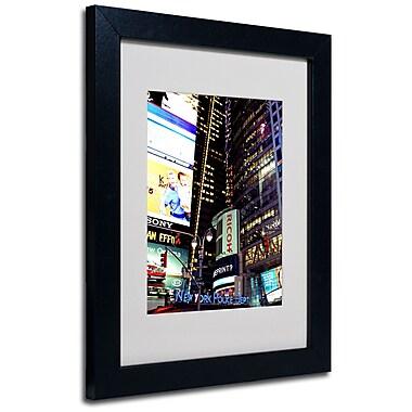 Trademark Fine Art Ariane Moshayedi 'Time Square Lights' Matted Art Black Frame 11x14 Inches