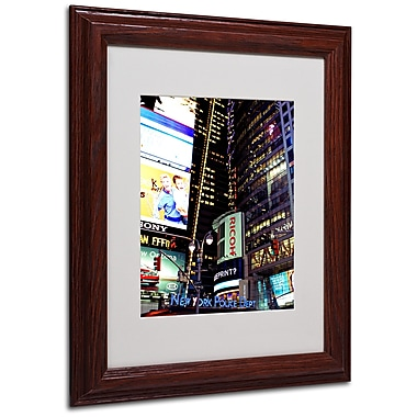 Ariane Moshayedi 'Time Square Lights' Matted Framed Art - 11x14 Inches - Wood Frame