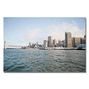 Trademark Fine Art Ariane Moshayedi 'City on the Water' Canvas Art 16x24 Inches
