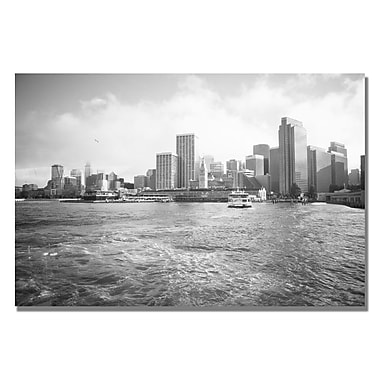 Trademark Fine Art Ariane Moshayedi 'City on the Water II' Canvas Art 22x32 Inches