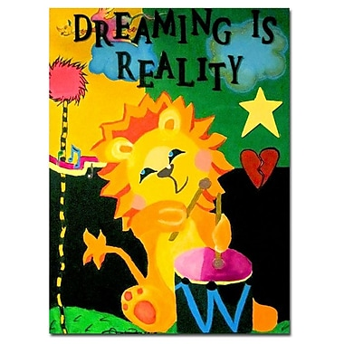 Trademark Fine Art Amanda Rea 'Dreaming is Reality' Canvas Art 35x47 Inches