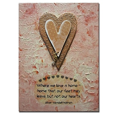 Trademark Fine Art Amanda Rea 'Heart' Canvas Art
