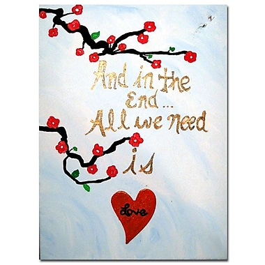 Trademark Fine Art Amanda Rea 'All You Need is Love III' Canvas Art