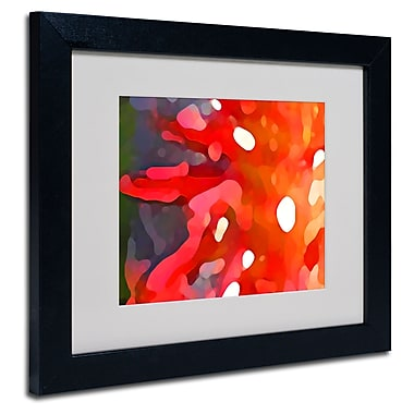 Trademark Fine Art Amy Vangsgard 'Red Sun' Matted Art Black Frame 11x14 Inches