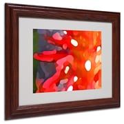 Amy Vangsgard 'Red Sun' Matted Framed Art - 11x14 Inches - Wood Frame