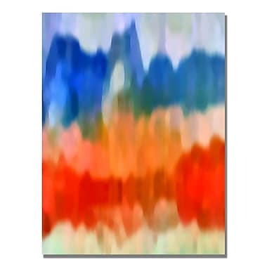 Trademark Fine Art Amy Vangsgard 'Abstract Watercolor I' Canvas Art 35x47 Inches